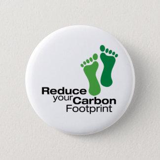 Reduce Your Carbon Footprint Pinback Button