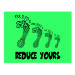 Reduce your carbon footprint post cards