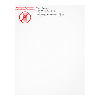 Reduce Your CO2 Emissions Letterhead