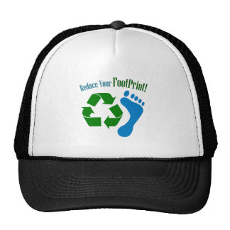 Reduce Your Footprint Hats
