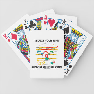 Reduce Your Junk Support Gene Splicing Bicycle Playing Cards