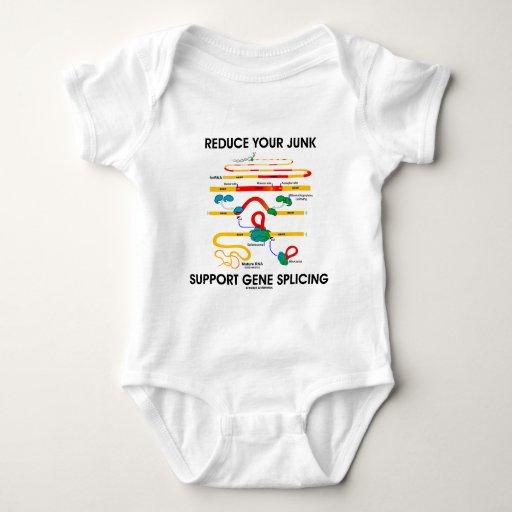 Reduce Your Junk Support Gene Splicing (RNA Humor) Baby Bodysuit