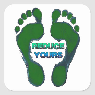 Reduce Yours Earth Day Stickers