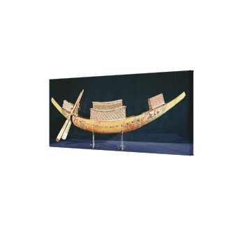 Reduced model of a boat from the Tomb Canvas Print