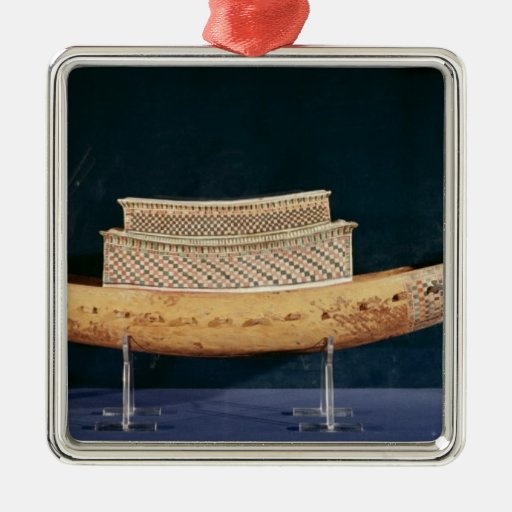 Reduced model of a boat from the Tomb Christmas Ornaments