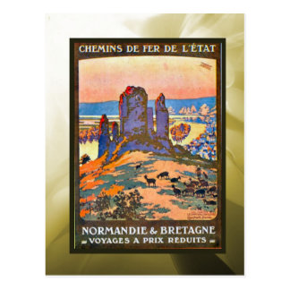 Reduced prices, Normandy, Brittany, Postcard