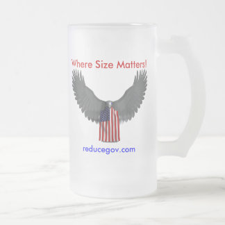 Reducegov.com Coffee Mug Where Size Matters