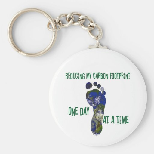 Reducing my carbon footprint t-shirts and gifts. keychains