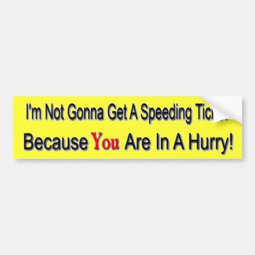Reductor de velocidad etiqueta de parachoque
