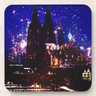 "Reductor from hard plastics ""Cologne at night "" Coaster"