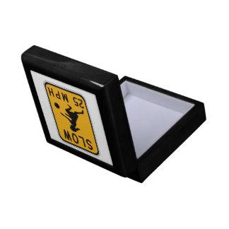 Reduzca 25 MPH, señales de peligro del tráfico, Caja De Regalo Cuadrada Pequeña