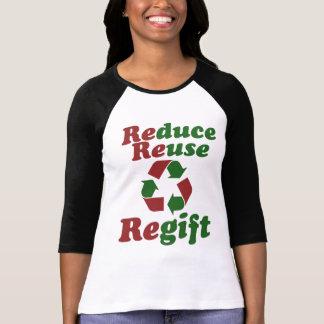 Reduzca el navidad divertido de Regift de la T Shirts