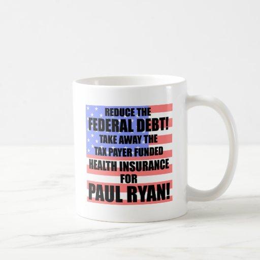¡Reduzca la deuda federal! Taza De Café
