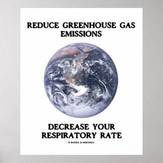 Reduzca la disminución de las emisiones de gases d póster