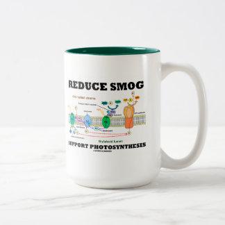 Reduzca la fotosíntesis de la ayuda de la niebla taza de dos tonos