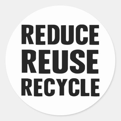 Reduzca la reutilización pegatina redonda