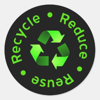 Reduzca la reutilización que recicla al pegatina