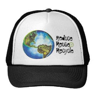Reduzca La reutilización recicla Gorra