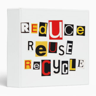 """Reduzca la reutilización reciclan 1,5"""" álbum de fo"""