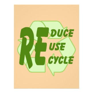 """Reduzca la reutilización reciclan 2 folleto 8.5"""" x 11"""""""