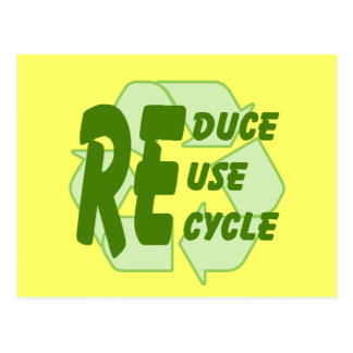 Reduzca la reutilización reciclan 2 postales