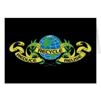 Reduzca la reutilización reciclan (2) tarjeta de felicitación