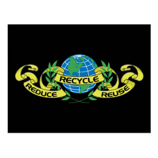 Reduzca la reutilización reciclan (2) tarjeta postal