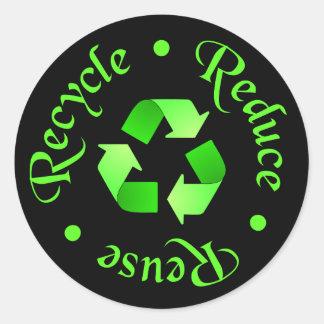 Reduzca la reutilización reciclan al pegatina