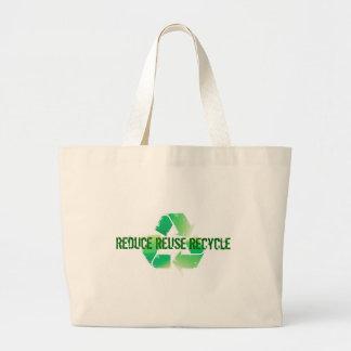 Reduzca la reutilización reciclan bolsa lienzo