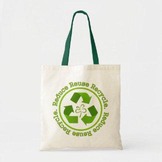 Reduzca la reutilización reciclan bolsas de mano