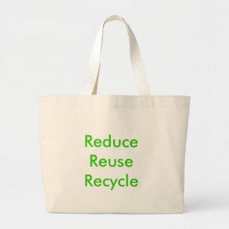 Reduzca la reutilización reciclan bolsa