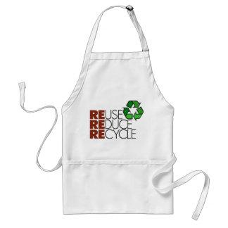 Reduzca la reutilización reciclan delantal
