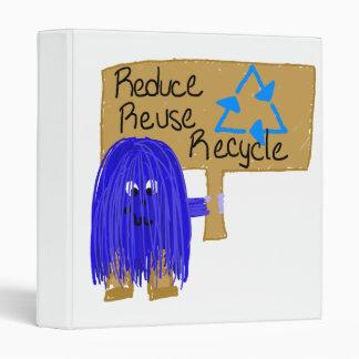 reduzca la reutilización reciclan el azul