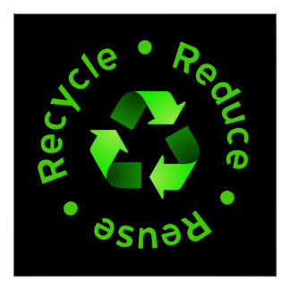 Reduzca la reutilización reciclan el poster