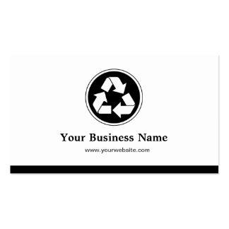 Reduzca la reutilización reciclan - el reciclaje tarjetas de visita