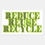 Reduzca la reutilización reciclan el vintage que r etiquetas