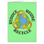 Reduzca la reutilización reciclan felicitación