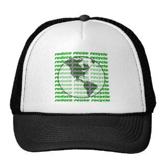 reduzca la reutilización reciclan gorra