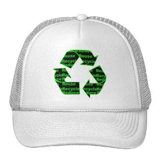 reduzca la reutilización reciclan gorros bordados