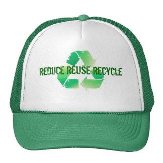 Reduzca la reutilización reciclan gorro de camionero