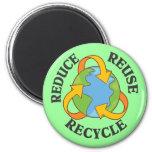Reduzca la reutilización reciclan iman de nevera