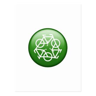 Reduzca la reutilización reciclan la bicicleta tarjetas postales