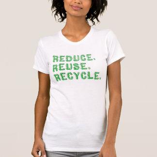 Reduzca la reutilización reciclan la camiseta remera