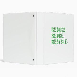 Reduzca la reutilización reciclan la carpeta