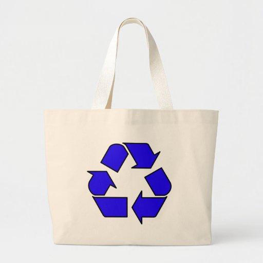 Reduzca la reutilización reciclan la flecha 3R del Bolsa Tela Grande