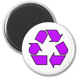 Reduzca la reutilización reciclan la flecha 3R del Imán Redondo 5 Cm
