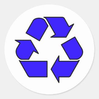 Reduzca la reutilización reciclan la flecha 3R del Pegatina Redonda