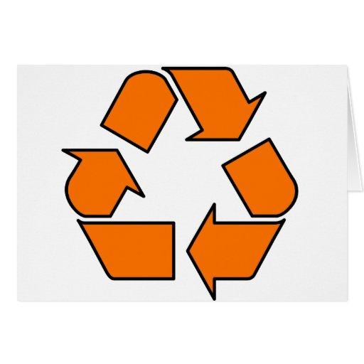 Reduzca la reutilización reciclan la flecha 3R del Tarjeta De Felicitación