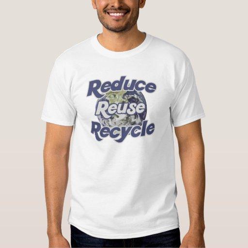 Reduzca la reutilización reciclan los recursos remera