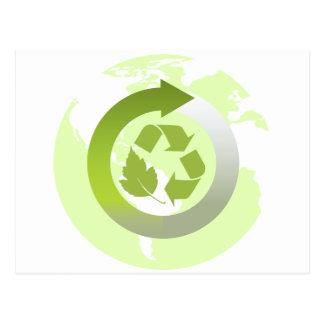Reduzca la reutilización reciclan los recursos postales